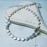 New Coin Pearl & Silver Bead Necklace 2 copy