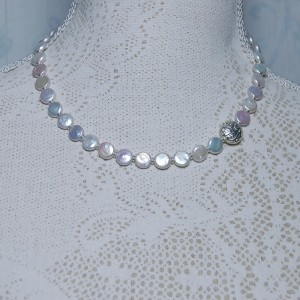 New Coin Pearl & Silver Bead Necklace 6 copy