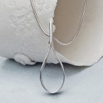 Personalised Silver Secret Teardrop Necklace new 3