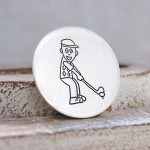 Drawing of Golfer for Golf Ball Marker