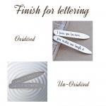 Finish for lettering