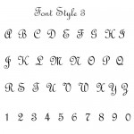 Font Style 3 French Script
