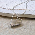 GIrls Personalised Silver Secret Heart NecklaceSecret Heart Necklace 14