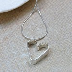 Girls Personalised Silver Secret Heart Necklace