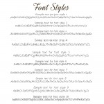 IndiviJewels Font Styles 1 - 10
