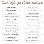 IndiviJewels Font Styles for Collar Stiffeners