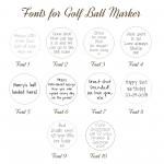 IndiviJewels Font Styles for Golf Ball Marker