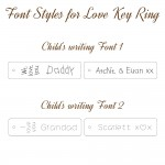 IndiviJewels Font Styles for Love Key Ring