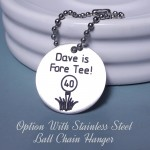 IndiviJewels Golf Ball Marker with Ball Chain Hanger