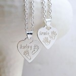 Personalised Silver Babyprints Heart Shaped Necklace