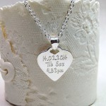 Personalised Silver Babyprints Heart Shaped Necklace Back