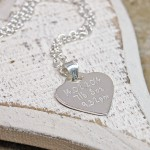 Personalised Silver Babyprints Heart Shaped Ncklace Back 2