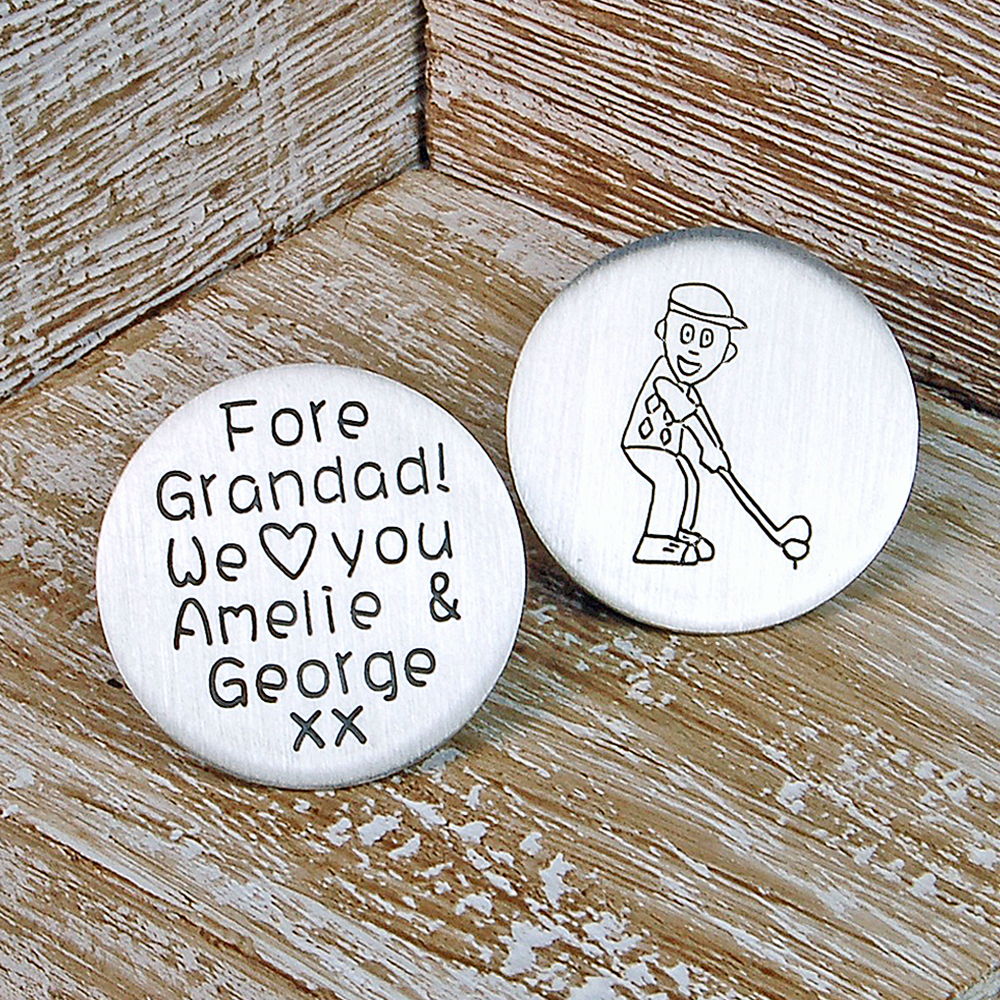 Personalised Silver Golf Marker Indivijewels