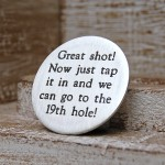 Personalised Silver Golf Ball Marker Type Font