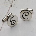 Personalised Silver Initial Cufflinks