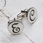 Personalised Silver Initial Cufflinks Main Image