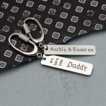 Personalised Silver Love You Keyring 2