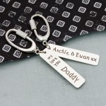 Personalised Silver Love You Keyring 3