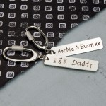 Personalised Silver Love You Keyring 5