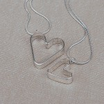 Personalised Silver Me and My Mum Secret Heart Necklaces 4