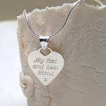 Personalised Silver  Mum Necklace Alternative Chain Back