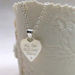 Personalised Silver Mum Necklace Back 2