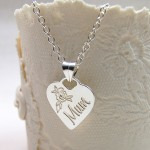 Personalised Silver Mum Necklace Main