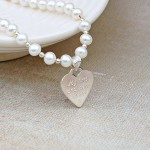Personalised Silver Mum Necklace on Pearls Back