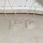 Personalised Silver Mummy and Me Secret Heart Necklace Set