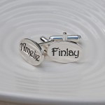 Personalised Silver Name Cufflinks 2