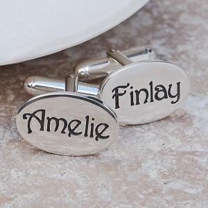 Personalised Silver Name Cufflinks 3 Main