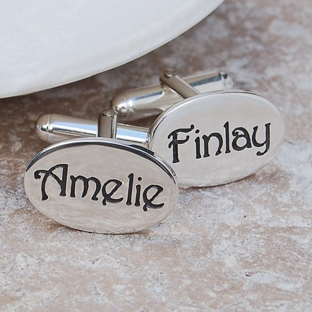 Personalised Silver Name Cufflinks 3 Main
