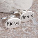 Personalised Silver Name Cufflinks 4