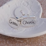 Personalised Silver Name Cufflinks Childrens Writing 2