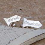 Personalised Silver Tie Shaped Cufflinks 2