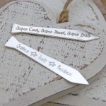 Personalised Silver Tie Shaped Shirt Collar Stiffeners 2