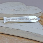 Personalised Silver Tie Shaped Tie Bar 2