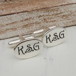 Personalised Sterling Silver Oval Initial Cufflinks 3 psd copy