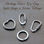 Sterling Silver Key Ring Fittings