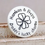 Daddys Lucky Charms Personalised Silver Golf Ball Marker