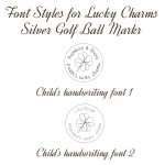Font Styles for Lucky Charms Silver Golf Ball Marker