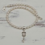 Freshwater Pearl and Sterling Silver Key Charm 5 copy