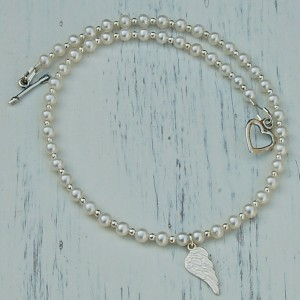 Girls Angel Wing and Pearl Necklace4