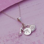 Girls Initial Charm Necklace