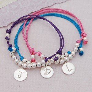 Girls Personalised Silver Friendship Bracelet 1