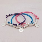 Girls Personalised Silver Friendship Bracelet 2