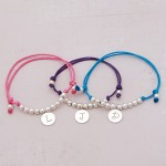 Girls Personalised Silver Friendship Bracelet 3