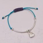 Girls Silver Friendship Bracelet Handbag