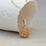 Gold Filled Birds Nest Necklace