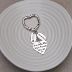 Heart Keyring with Two Date Charms